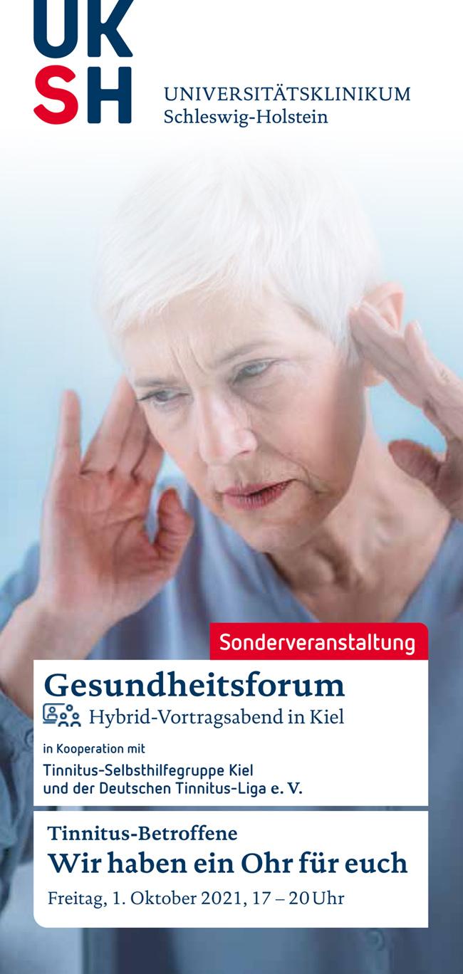 Flyer Tinnitus-Betroffenen-Seminar in Kiel